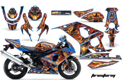 Firestorm in Blue Design