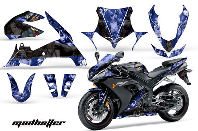 Yamaha R1 '04-'05 Mad Hatter in Blue background Black Design