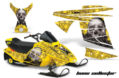 Ski Doo Mini Z Sled '03-'08 Bone Collector Yellow Background