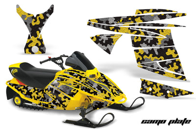 Ski Doo Mini Z Sled '03-'08 Camo Plate in Yellow Design