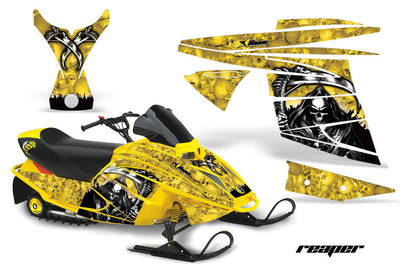 Ski Doo Mini Z Sled '03-'08 Reaper in Yellow Background