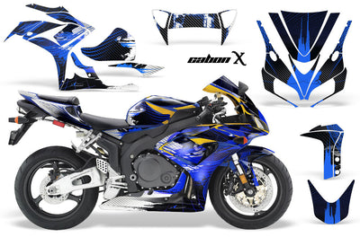 Honda CBR1000RR '06-'07 Carbon X in Blue Design