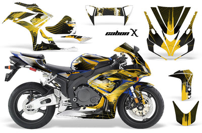 Honda CBR1000RR '06-'07 Carbon X in Yellow Design