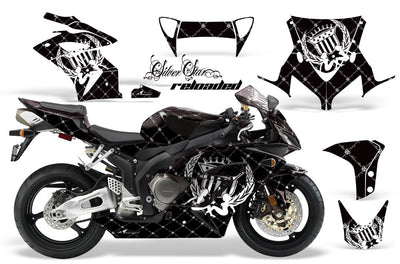 Honda CBR1000RR '04-'05 Black Background with White Design