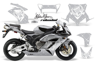 Honda CBR1000RR '04-'05 Silver Background with White Design