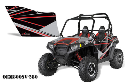 Polaris RZR 800 2 Door Graphic Kit for OEM Polaris Doors - Liquid Silver LS (184-1010)