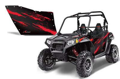 Polaris RZR 800 2 Door Graphic Kit for OEM Polaris Doors - Red Carbon Fiber (182-1010)