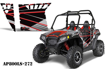 Polaris RZR-S 800 Side x Side Graphic Kit for Pro Armor Doors - Liquid Silver 272