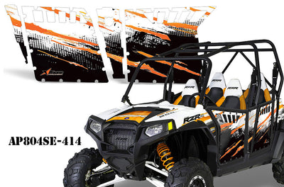 Orange/White on a RZR800S 2011