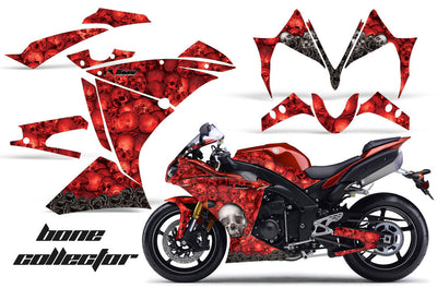 Yamaha R1 '10-'12 Bone Collector in Red Background