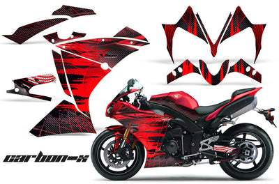 Yamaha R1 '10-'12 Carbon X in Red Design