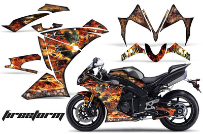 Yamaha R1 '10-'12 Firestorm in Black Design