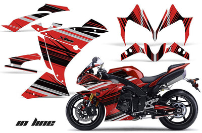 Yamaha R1 '10-'12 In Line in Red Design