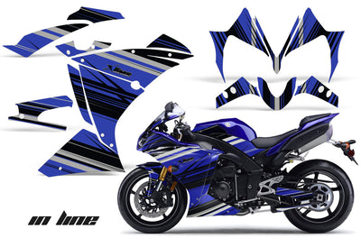 Yamaha R1 '10-'12 In Line in Blue Design