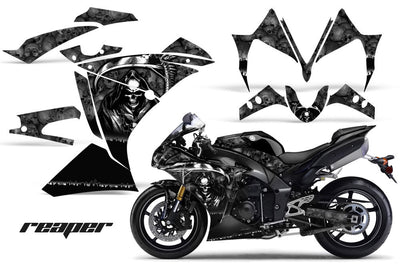 Yamaha R1 '10-'12 Reaper in Black Background