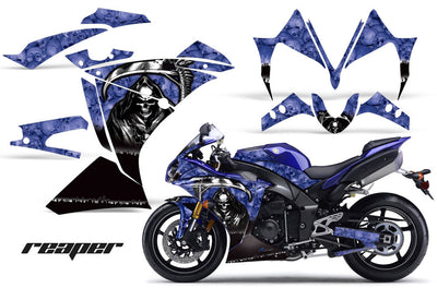 Yamaha R1 '10-'12 Reaper in Blue Background