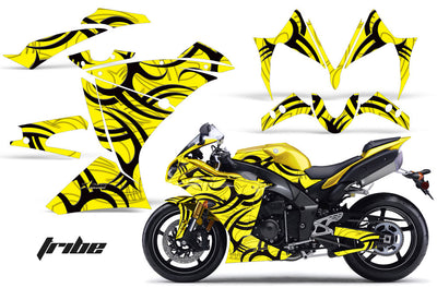 Yamaha R1 '10-'12 Tribe Yellow Background with Black Design