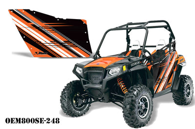 Polaris RZR 800 2 Door Graphic Kit for OEM Polaris Doors - Orange Madness (173-1010)