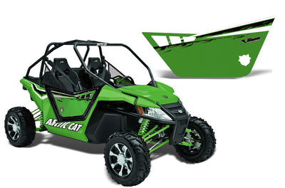 Arctic Cat Wildcat 1000 2 Door Graphic Kit for Pro Armor Doors - Factory Green