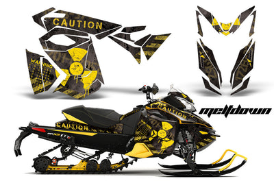 Ski Doo Rev XS,MXZ, Renegade Sled Snowmobile Graphics Wrap Kit  (2013-2014)