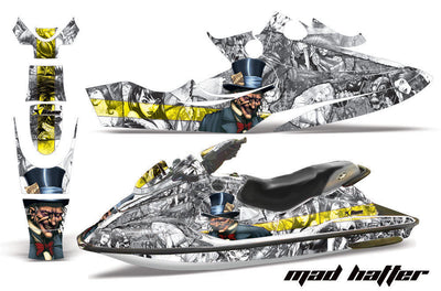 Mad Hatter - White Background Yellow Design