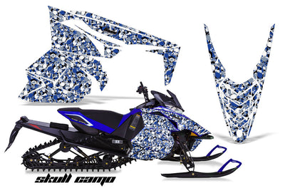 Skull Camo in Blue Design
