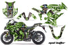 Mad Hatter - Ninja ZX1000 '10-'13 in Silver Design Green Background