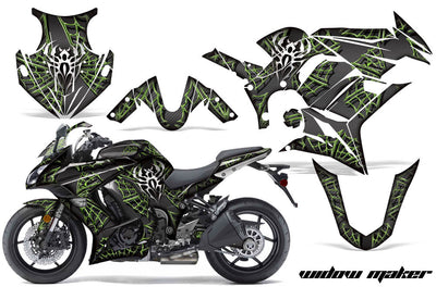 Widow Maker - Ninja ZX1000 '10-'13 in Green Design Black Background
