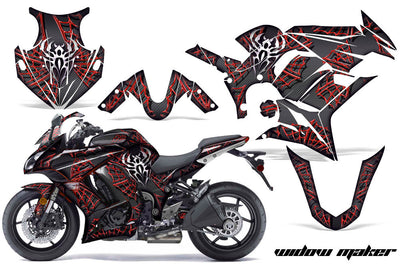 Widow Maker - Ninja ZX1000 '10-'13 in Red Design Black Background
