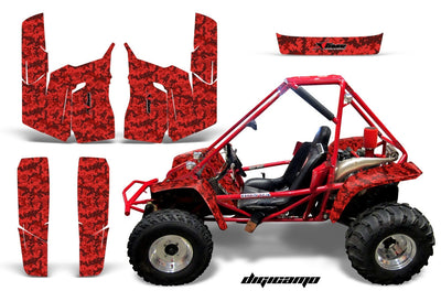 Digi Camo in Red Design