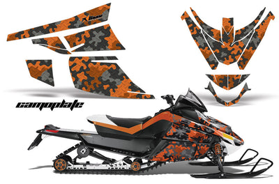 Camo Plate in Orange Design