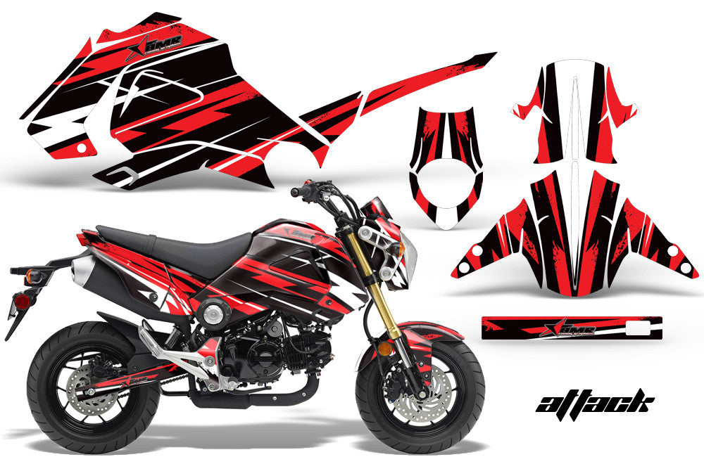 Honda Grom Motorcycle Graphic Kit Invision Artworks - Vinyl skins for motorcycles