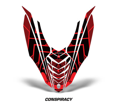 Yamaha Viper Snowmobile Hood Wrap Kit 2014