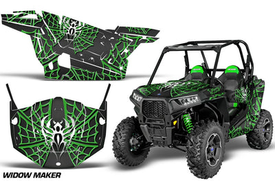 Widow Maker Black Background Green Design