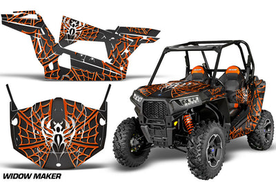 Widow Maker Black Background Orange Design
