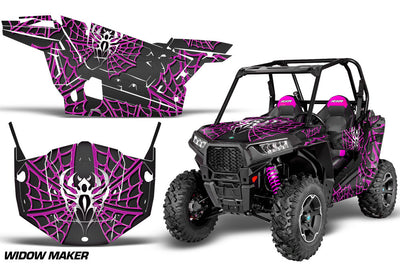Widow Maker Black Background Pink Design
