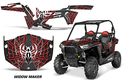 Widow Maker Black Background Red Design