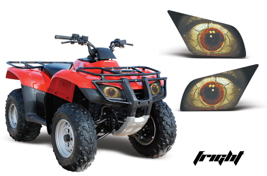 Large Honda Recon Es Headlight Eyes Fright X on Honda Fourtrax 250r