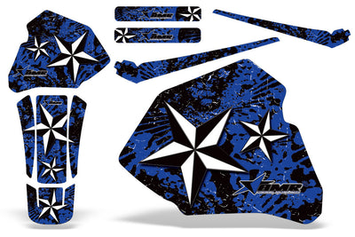 North Star - Blue Background White Design (85-00)