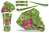 Butterflies & Skulls - Green Background Pink Design (85-00)