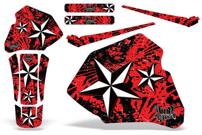North Star - Red Background White Design (85-00)