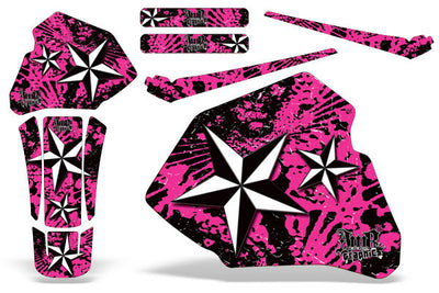North Star - Pink Background White Design (85-00)