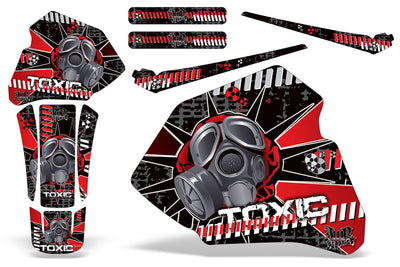 Toxicity - Red Background Black Design (85-00)