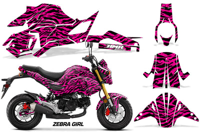 Zebra Girl - PINK background BLACK design (2017-2018)