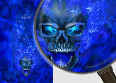 Nitro - Blue Background Blue Design