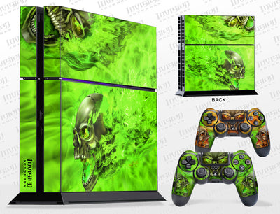 Sony PlayStation 4 Graphics - Console Skin with 2 Controller Skins - NITRO