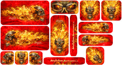 Red & Natural Fire Design