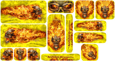 Yellow & Natural Fire Design