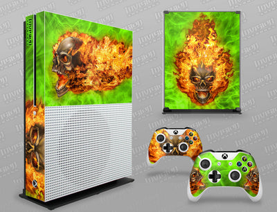 Xbox One S Graphics - Console Skin with 2 Controller Skins - NITRO