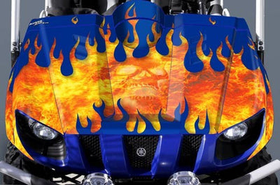 On Fire - Blue Design